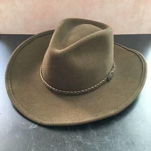 Stetson Rawhide Crushable Buffalo Felt Hat 7 1/8